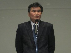 レセプションご挨拶:ローム(株)の澤村社長