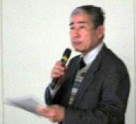 司会の小林鬨司  NEDIA 事務局次長